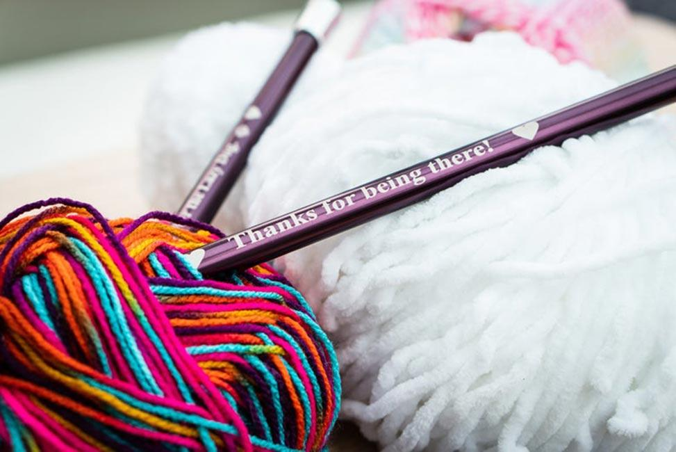 Personalised Knitting Needles Kettering Embroidery