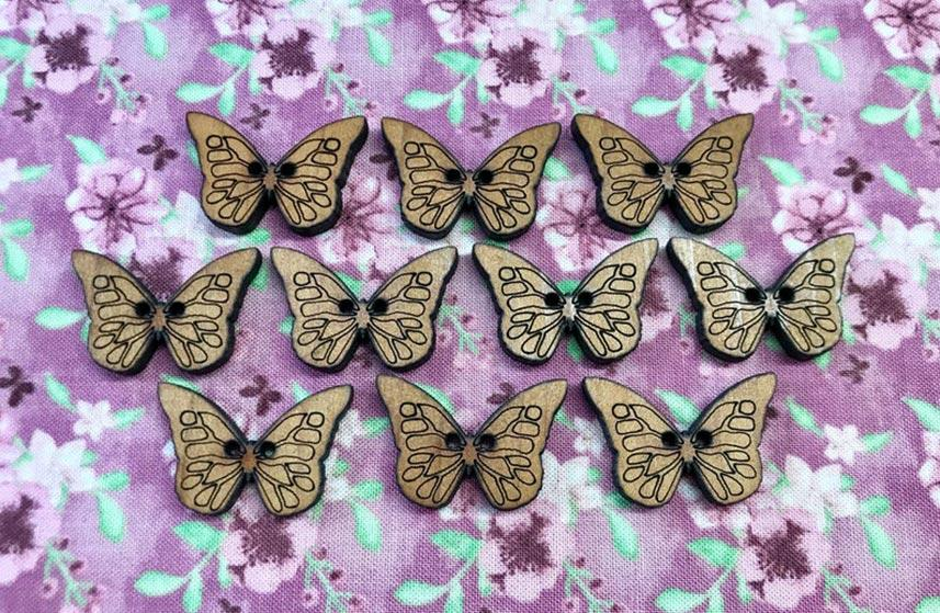 Embroidery butterfies